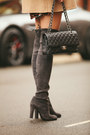 Gray-grey-stuart-weitzman-boots-bronze-zara-dress-camel-wool-zara-coat