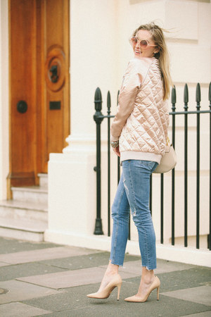 light pink Stradivarius blazer - eggshell leather Chloe bag