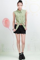 Vintage Renewal Studded Shirt - Green