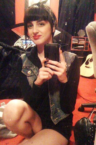 Punk Sweater Vest Blue Vest Black Sweater