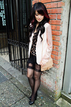 sequins sleeves Forever21 blazer - bow tie pattern numph dress