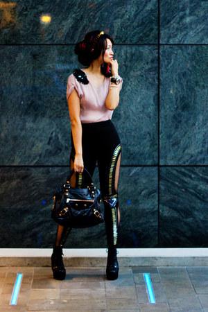 black necessary clothing boots - black GoJane leggings