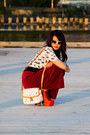 Brick-red-vintage-pants-luis-vuitton-bag-black-forever21-belt