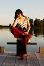Brick-red-vintage-pants-luis-vuitton-bag-black-forever21-belt