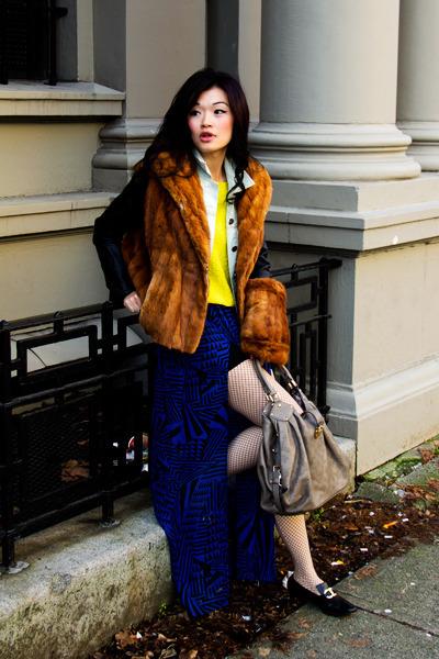 diy vest vintage vest - vintage ferragamo shoes - neon knit Forever21 sweater