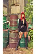 stuart weitzman boots - Zara blazer - Kenzo shorts