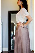 sheer maxi Obakki skirt - vintage clip on vintage earrings