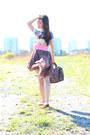 Camel-sheer-maxi-romwe-skirt-light-blue-prints-romwe-dress
