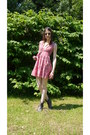Flowery-river-island-necklace-besson-boots-pink-flowery-h-m-dress