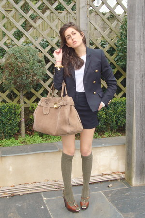 joseph blazer - Gucci bag - D&amp;G wedges