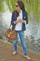 Ralph Lauren blazer - Miu Miu bag - rayban sunglasses - Dolce & Gabbana flats