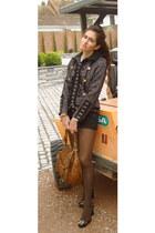 Luella blazer - Miu Miu bag - Dolce & Gabbana heels