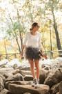 Sisley-skirt-velvet-t-shirt-jeffrey-campbell-sneakers