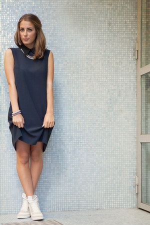 Miu Miu dress - River Island sneakers - MINUSEY necklace