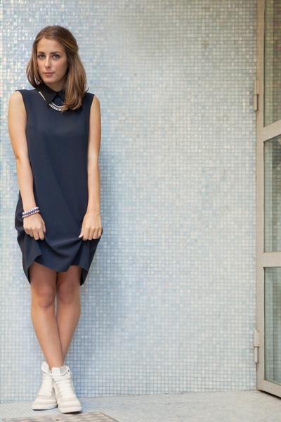 0b7940a478d7 Miu Miu dress - River Island sneakers - MINUSEY necklace