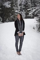 gray sequin Nordstrom leggings - charcoal gray Rebecca Minkoff heels