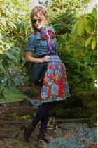 light blue Anthropologie skirt - teal menswear Gap shirt