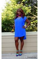 high low H&M dress - color block Agaci sandals