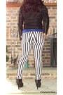 White-striped-forever-21-jeans-black-studded-forever-21-jacket