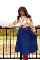 vintage skirt - Bakers boots - vintage blouse