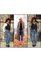 leopard print Sheinsidecom coat - boyfriend jeans Charlotte Russe jeans