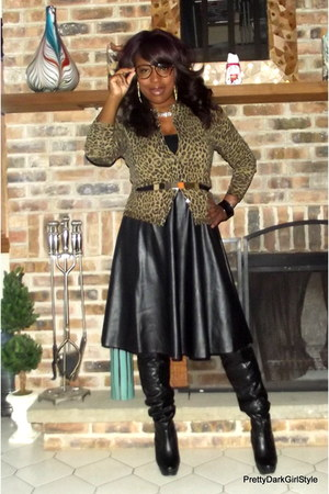 faux leather choiescom skirt