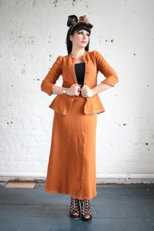 burnt orange woolen Pretty Disturbia Vintage jacket