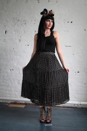 black polka dot skirt Pretty Disturbia Vintage skirt
