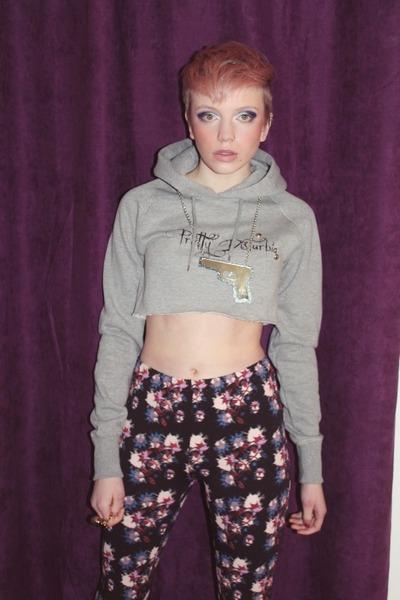 cropped hoodie Pretty Disturbia hoodie - Pretty Disturbia leggings
