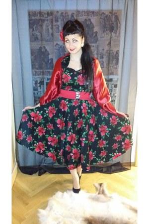 cotton hell bunny dress - maroon net Pretty Disturbia skirt - next heels