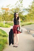 black H&M blazer - black BCBG bag - black Alice & Olivia top