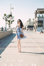 Sky-blue-asos-dress-brown-nasty-gal-bag-brown-gucci-sunglasses