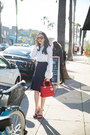 Ruby-red-dior-bag-brown-versace-sunglasses-navy-tommy-hilfiger-skirt