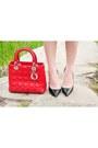 Red-dior-bag-red-geoffrey-beene-vintage-blouse-navy-tommy-hilfiger-skirt