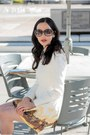 White-dresslily-dress-gold-kate-spade-bag-light-brown-gucci-glasses