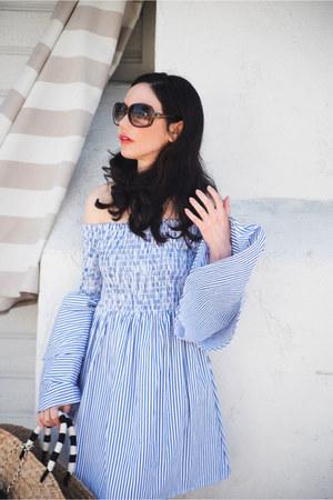 sky blue storets dress