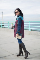 maroon Marc by Marc Jacobs coat - dark brown Charles David boots