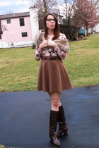 Forever 21 skirt - vintage boots - worn as a top H&M dress