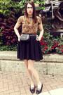Vintage-chanel-bag-target-skirt-thrifted-t-shirt-vintage-ferragamo-flats