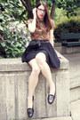 Vintage-chanel-bag-thrifted-t-shirt-target-skirt-vintage-ferragamo-flats