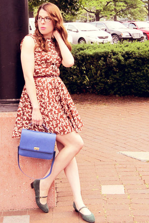 modcloth dress - J Crew bag - American Apparel pumps