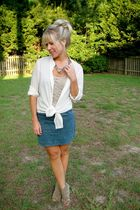Theory blouse - seychelles shoes - Hallelu skirt - Hallelu top - banana republic
