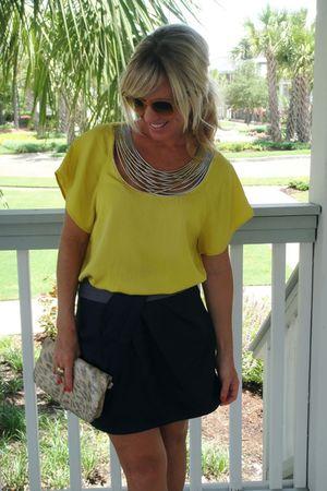 31 phillip lim blouse - Lush skirt - HOBO purse - Ray Ban sunglasses
