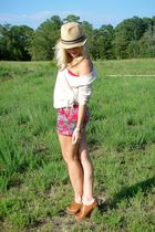 Kersh shirt - Anthropologie shorts - seychelles shoes