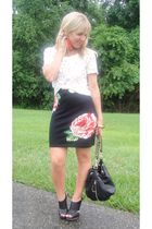 Motel  Hallelu dress - Hallelu shoes - Deux Lux Bucket Bag purse - Leather Feath