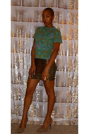 vintage blouse - Forever 21 skirt