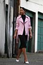Aritzia-dress-endless-rose-jacket-marc-fisher-heels