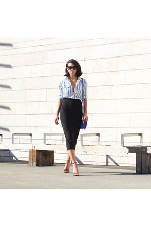 Aritzia skirt - madewell shirt - Rebecca Minkoff bag - Steve Madden heels