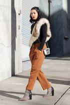 loeffler randall boots - Nordstrom sweater - H&M scarf - Pour La Victoire bag