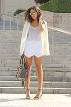 Aritzia skirt - Nordstrom blazer - Aritzia top - Steve Madden sandals